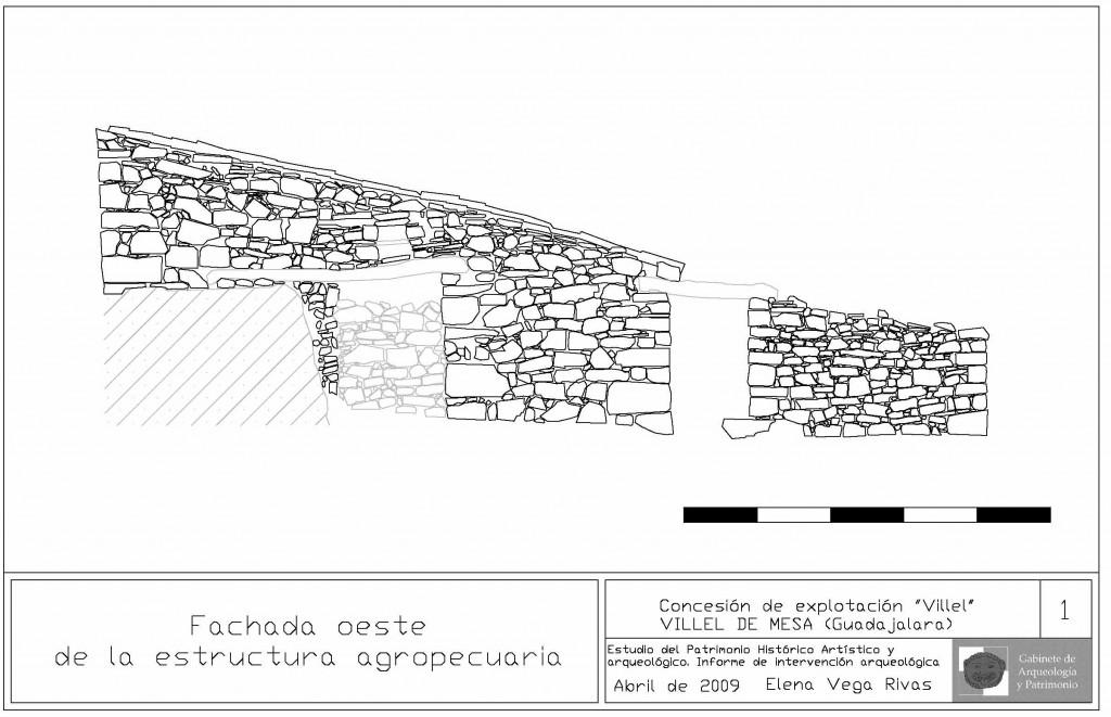 Alzado estructura agropecuaria